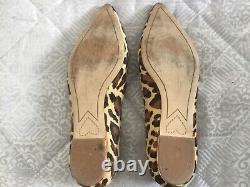 Sophia Webster Bibi Butterfly Flat Leopard Print Shoe Size 38.5