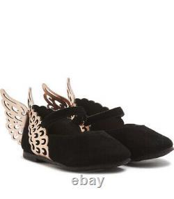 Sophia Webster Mini Evangeline Core Shoes Black Rose Gold Uk Size 12.5 RRP £150