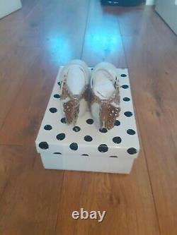 Sophia Webster Mini Me Evangeline Girls Shoes White And Rose Gold Leather