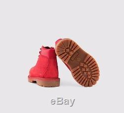 Timberland 6 INCH BOOT RED Size 12 13 1 2 KIDS Boys Girls Waterproof