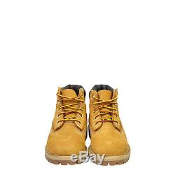 Timberland 6 Wheat Girls Boys Kids Nubuck Leather Ankle Boots Shoes Waterproof