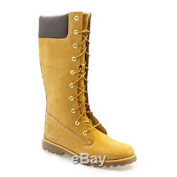 Timberland Asphalt Trail CLS Tall Kids Wheat Boots Knee High Girls Leather Shoes