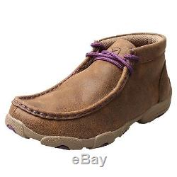 Twisted X Casual Shoes Girls Kids Driving Mocs Lace Bomber YDM0012