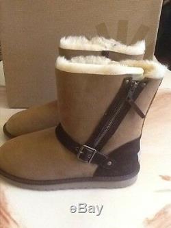 UGG Australia BLAISE Girls Boots NWB Size 6 Big Kid Chestnut, Brown Buckle