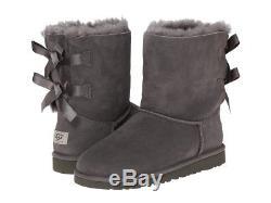 UGG Australia Bailey Bow II Grey Boot Big Kid Girl's sizes 13-6 NEW