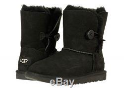 UGG Australia Bailey Button II Black Boot Kid's Girl's sizes 13-6 NEW