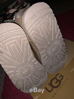 UGG Australia Boots Girls 5 Child Kids Bailey Bow Chestnut 3280K Chesnut Brown