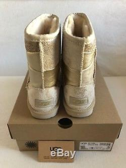 UGG Australia Classic Short II Patchwork Gold Boot Kid's Girl's sizes 13-6 NEW
