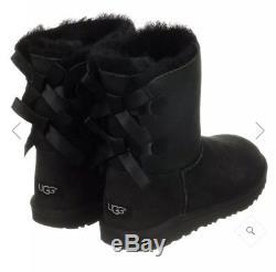 UGG Australia Girls Boots Bailey Bow Black UK Kids 13 BNIB