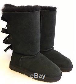 UGG Australia Kids Bailey Bow Triplet Triple Tall Boot 1007309 K Black Girls