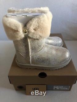 UGG Australia Ramona Classic II Metallic Gold Boot Kid's Girl's sizes 13-6 NEW