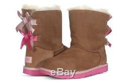 UGG Australia Women's Shoes Youth K Bailey Bow II 1017394K Boots Chestnut Black