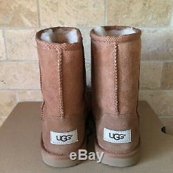 UGG Classic Short II Chestnut Suede Youth Kid Girl Boots Size 3 = Women 5