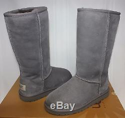 UGG Girl's Kids Classic Tall Boots Grey New With Box