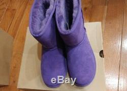 UGG Girls' Classic Boots Big Kid Purple Size 5C NIB