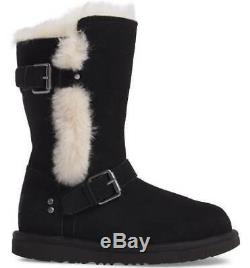 UGG Girls K Magda Boot Black Size 5 US Big Kid Style 1017352K