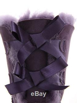 UGG Girls Kids Bailey Bow Boots Petunia Purple PET New With Box! Size 4