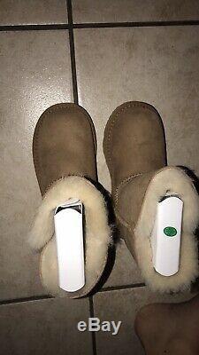 UGG Girls Kids Toddler Size 11 Bailey Button II Boots Chestnut Brown