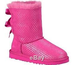 Ugg Kids Girl's Bailey Bow Splash (little Kid/big Kid) Princess Pink Boot 4 Eu34