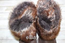 UGG Kids Ellee Leather Sheepskin Boots, Girls' Size 10, Brown