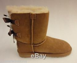 UGG Kids/Girls Bailey Bow Boots 3280Y Chestnut Size 5