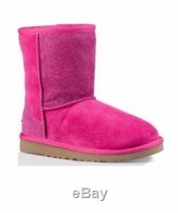 UGG Kids Girls Classic Short Serein Boots Diva PINK #1013259K Size 3 usa 4