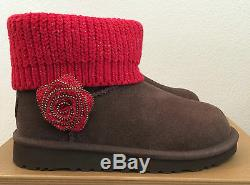 UGG Kids Girls Youth 3 Brown Red Mini Southern Belle Winter Boots 1003215K K