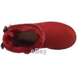 UGG Kids Girls Youth Size 13 Bailey Bow Bandana MRRD Red Winter Sheepskin Boots