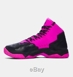 UNDER ARMOUR UA Kids Boys Girls Curry 2.5 Basketball Shoes Sneakers Black Pink