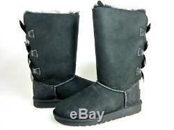 Ugg Australia Girls Bailey Bow Tall Boots, Black, Us Big Kid Size 6, Medium, New