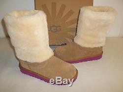 Ugg Australia Size 2 M Malena 1005397K Chesnut Boots New Girls Kids Shoes
