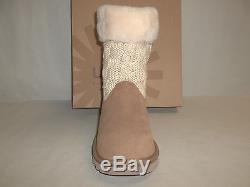 Ugg Australia Size 3 KIDS JUNIPER Chestnut Brown Leather Boots New Girls Boots