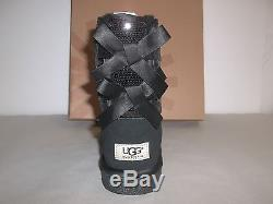 Ugg Australia Size 3 M Bailey Bow 1006197K Sparkle Boots New Girls Kids Shoes