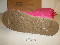 Ugg Australia Size 6 M Kids Bailey Bow Tall Violet Leather Boots New Girls Shoes