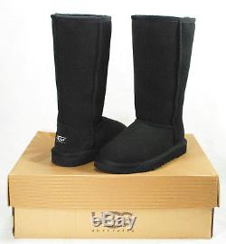 Ugg Classic Tall Girls' Boots, Black Suede/sheepskin, Little Kids' Size 1, New