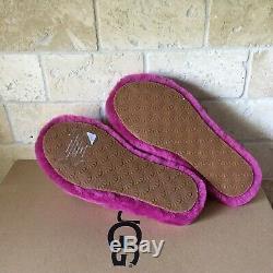 Ugg Fluff Yeah Slide Fuchsia Slingback Shoes Slippers Size 5 Youth Kid = Women 7