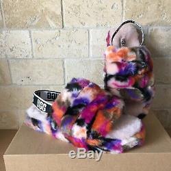 Ugg Fluff Yeah Slide Motlee Graffitti Slide Shoe Slippers Size 2 Youth Kids Girl