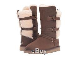 Ugg Girls Kids Youth Glasgow Boots Becket Style Toast Brown Size 6 New