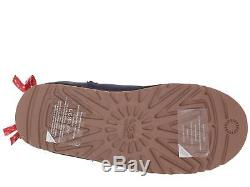 Ugg Girls Youth Kids Bailey Bow Bandana Boots Navy Blue Red Size 3 Youth New