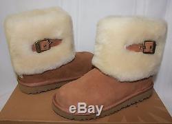 Ugg Kids Girls Ellee Boots Chestnut suede NEW