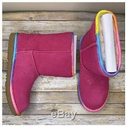 Ugg Kids Rainbow Classic Short II Water Resistant Boots Girls Size 6 New In Box