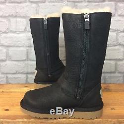 Ugg Uk 9 Eu 27 Uggs Australia Black Leather Kensington Girls Childrens Rrp £120