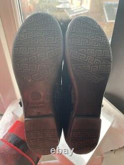 Versace Real Fur Pom Pom Girls Shoes (Black) Worn Once Size 32 490.00