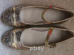 Versace Young Gold Ballet Shoes