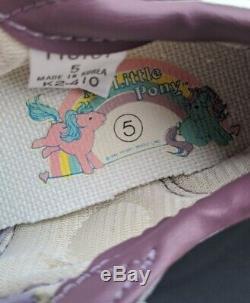 Vintage 1984 Girl Kids size 5 my Little Pony, Hasbro Bradley Sneakers Shoes New