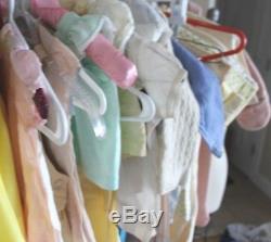 Vintage Antique Lot 50+ Children's Clothing Dresses robes Boys girls shoes