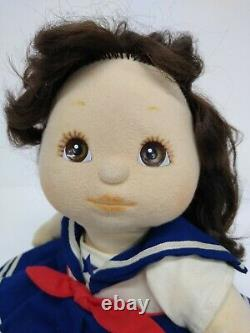 Vintage Mattel My Child Poseable Baby Doll Girl Brunette Hair Clothes Shoes 1985