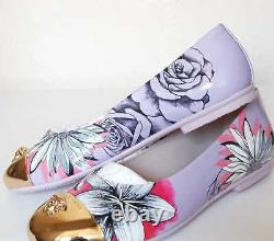 Young Versace Girls Floral Patent Leather Ballerina Shoes, Various Sizes