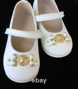 Young Versace Girls White Shoes