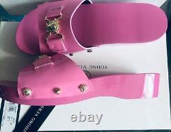 Young Versace Pink Girls Shoes-slides Size Uk5, Eu38 New In Box